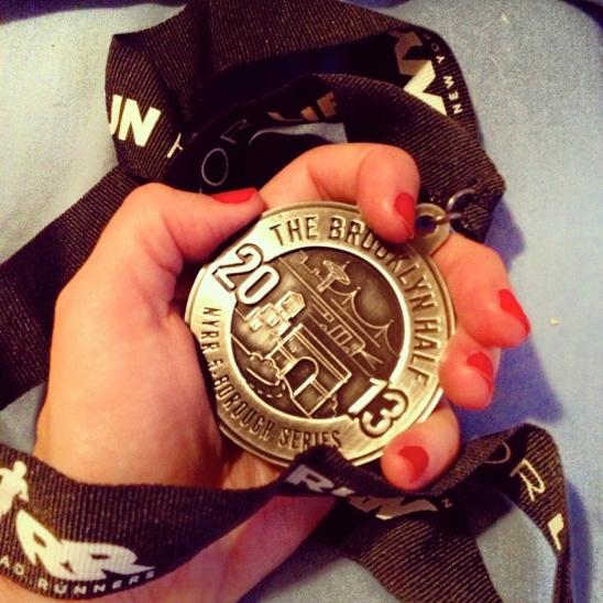 Brooklyn Half Marathon 2013 finishers medal Lizabeth Ronk