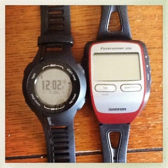 Garmin 210 and Garmin 305 GPS running watches