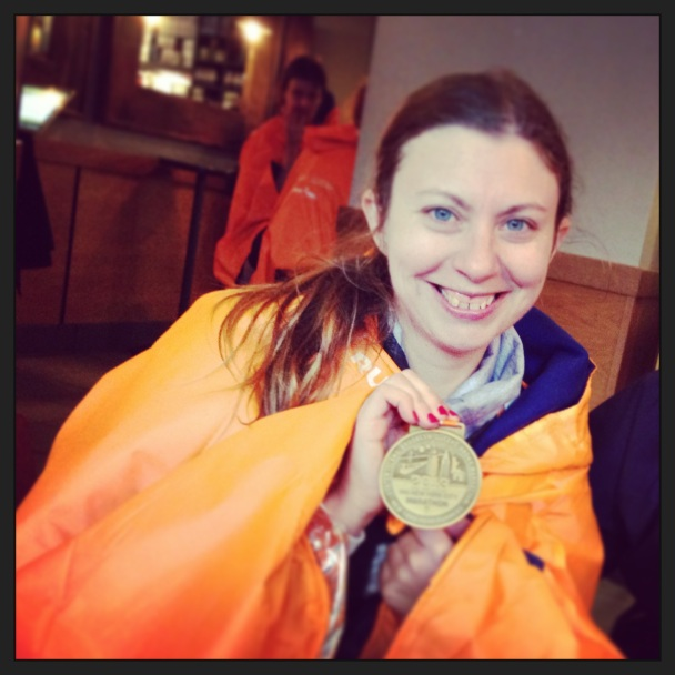 Lizabeth Ronk with Finish Medal from the ING NYC Marathon November 3, 2013