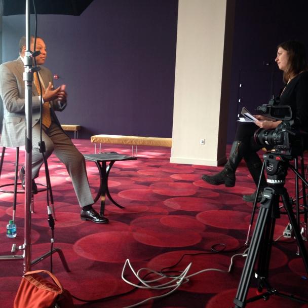 life.com photo editor liz ronk interviewing wynton marsalis